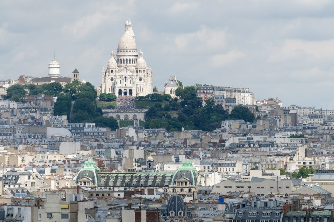 Montmartre dominated by the Sacré Cœur.